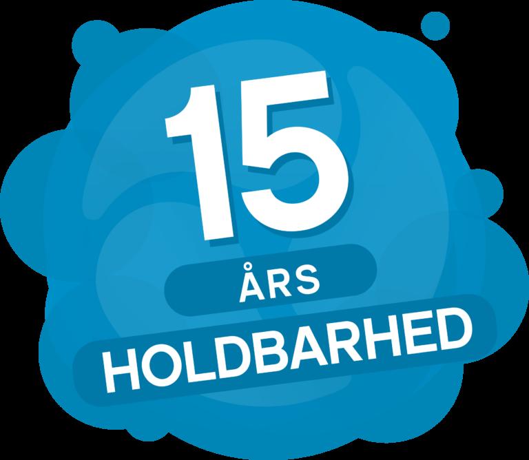 15 års holdbarhed